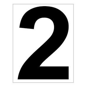 Schild Platz-Ziffer Nr. 2