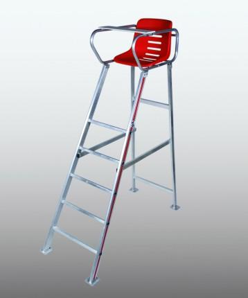 Schiedsrichterstuhl Turnier Alu, Sitzschale rot