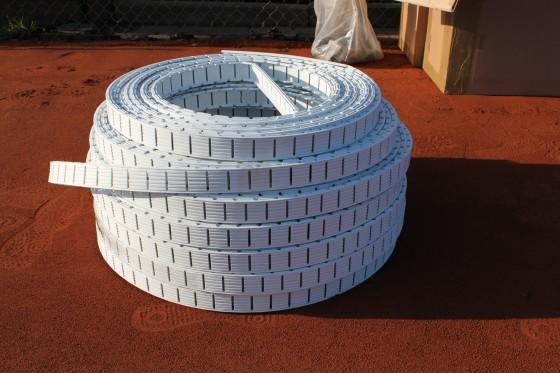 Ideala III 5 cm breit, weiß Bodenanker L-Form