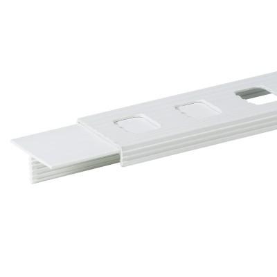 Tigerband - Linie, 4 cm, weiß