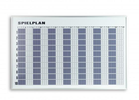 Tagesbelegungsplan für 10 Plätze
