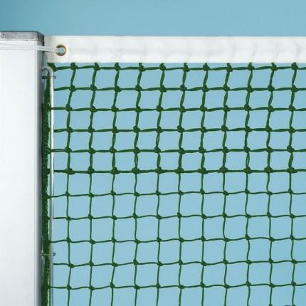 Tennisnetz Grand Slam, grün, 3 mm Polyethylen, gefl. 5 Doppelreihen