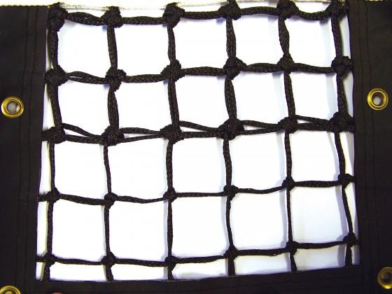 Tennisnetz Grand Slam, schwarz, 3,2 mm Polyethylen, gefl. 5 Doppelreihen