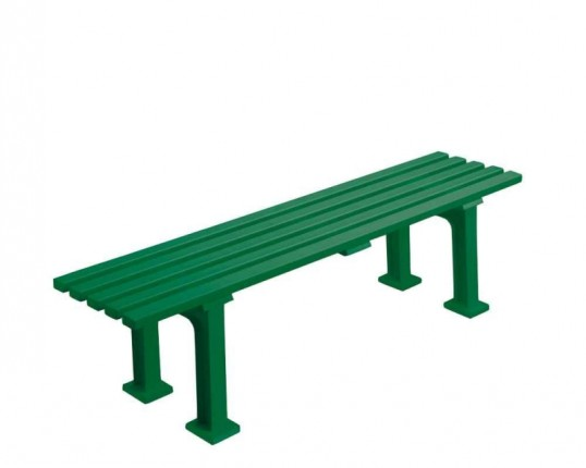 Bank ohne Lehne,150 cm, grün